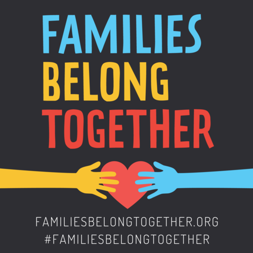 4. Join the Families Belong Together Media Feed - Share your photo, coloring page, or message of support here to be added to the official #FamiliesBelongTogether media feed via tumblr.