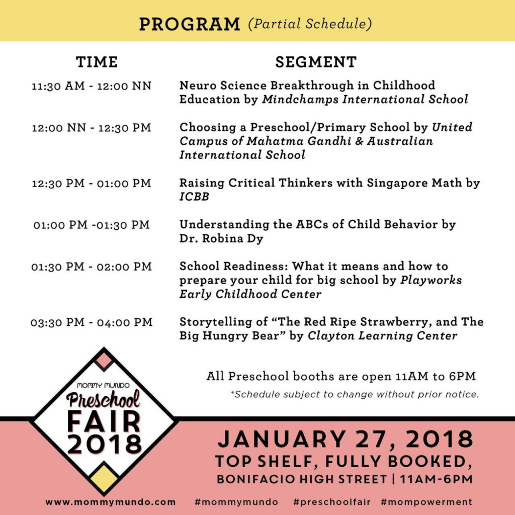 Preschool Fair Program
