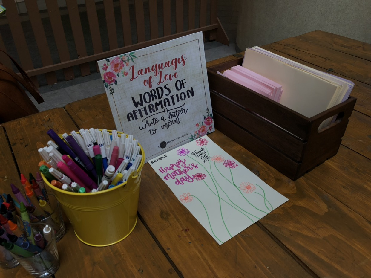 Words of Affirmation: Kids can put their love into words and images when they write a Mother's Day letter to mom.