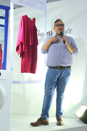 Rajo Laurel, renowned fashion designer and Electrolux FashionCare Ambassador