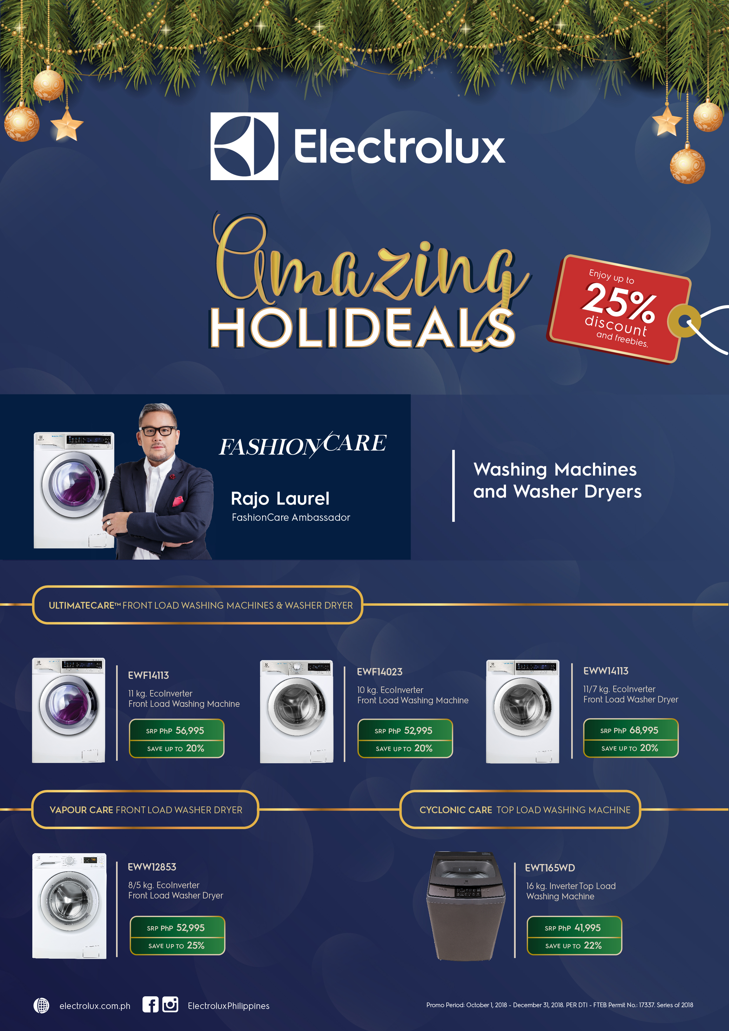Don't forget to share the artwork and link ( https://www.electrolux.com.ph/promotions/amazing-holideals-laundry/ ) to Electrolux's Amazing Holideals promo on your blog post.