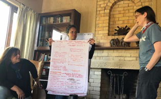 The second climate change team looked at strategies for capturing methane emissions (methane is 21 times more potent a greenhouse gas than is carbon dioxide.) The team focused on natural strategies for converting captured methane to methanol.