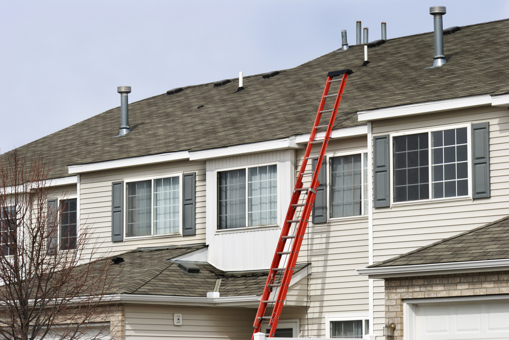 Ladder Assist - Our technicians are experts in steep slopes and high roofs, using aerial pictometry and digital photography to assist and document their inspections.