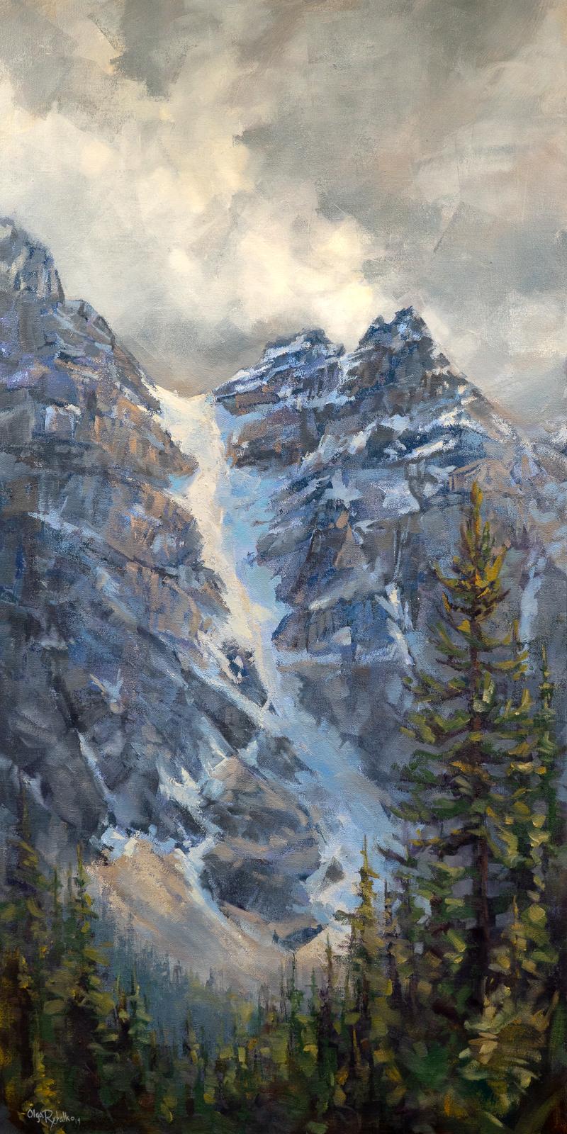 olga rybalko landscape painting banff jasper blue altitudes