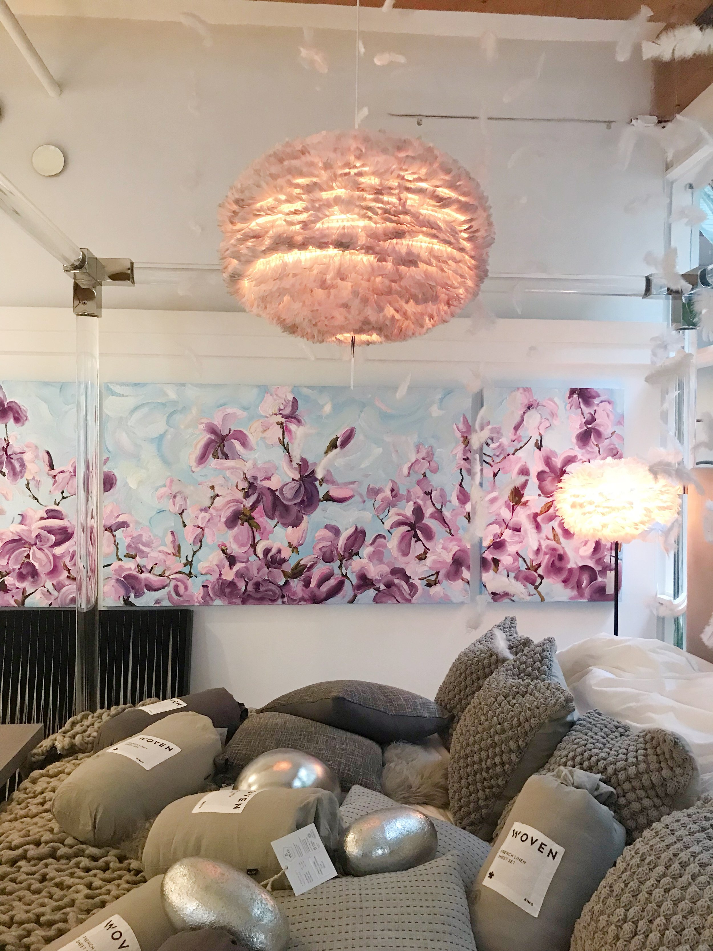 A Dream of Spring, installed at Dwell Living, Vancouver