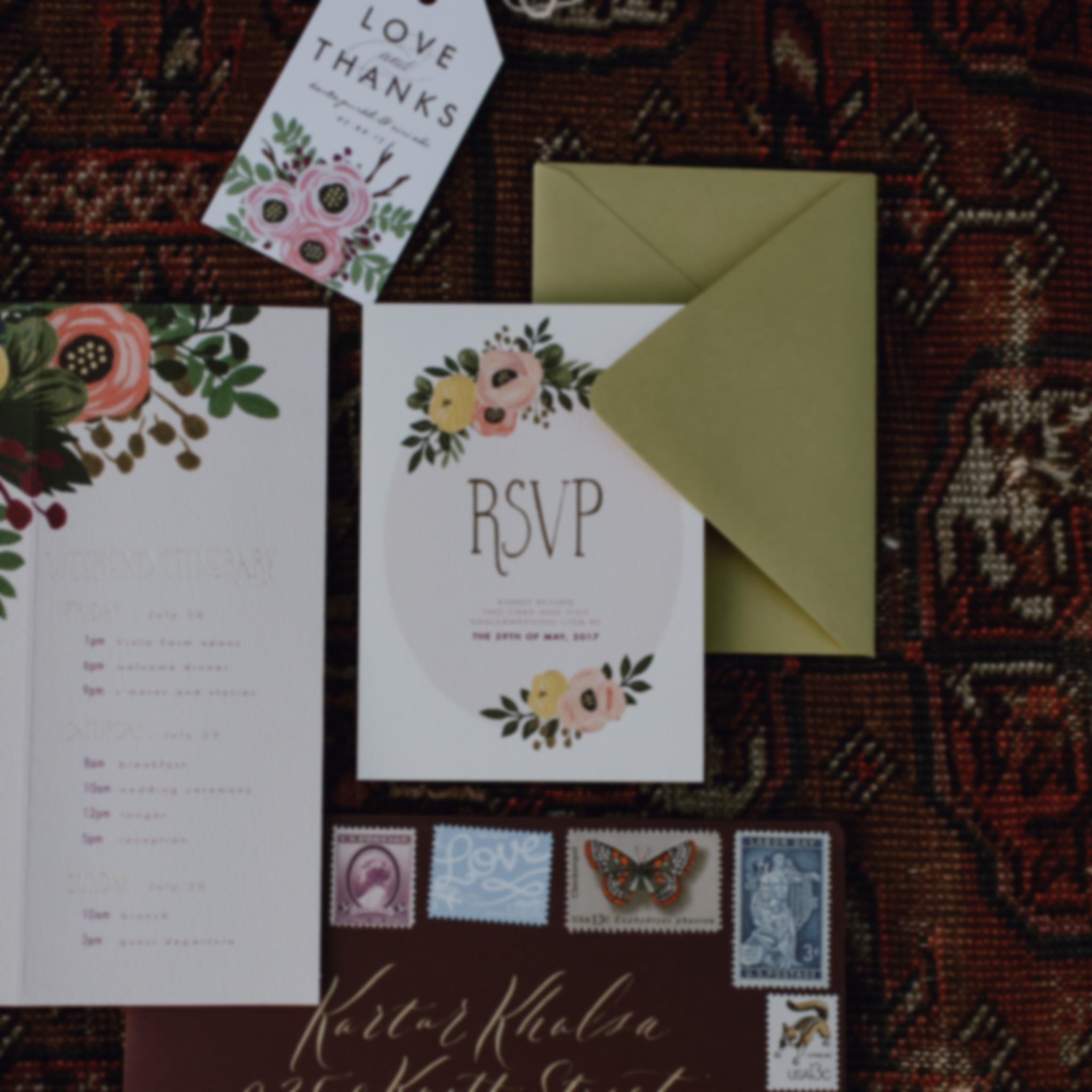 Invitations - Artful and Authentic Custom Invitation Suites