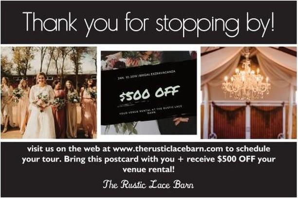 💌 Win a FREE Wedding at The Rustic Lace Barn worth $20,000 at the Bridal Extravaganza This Sunday 💍