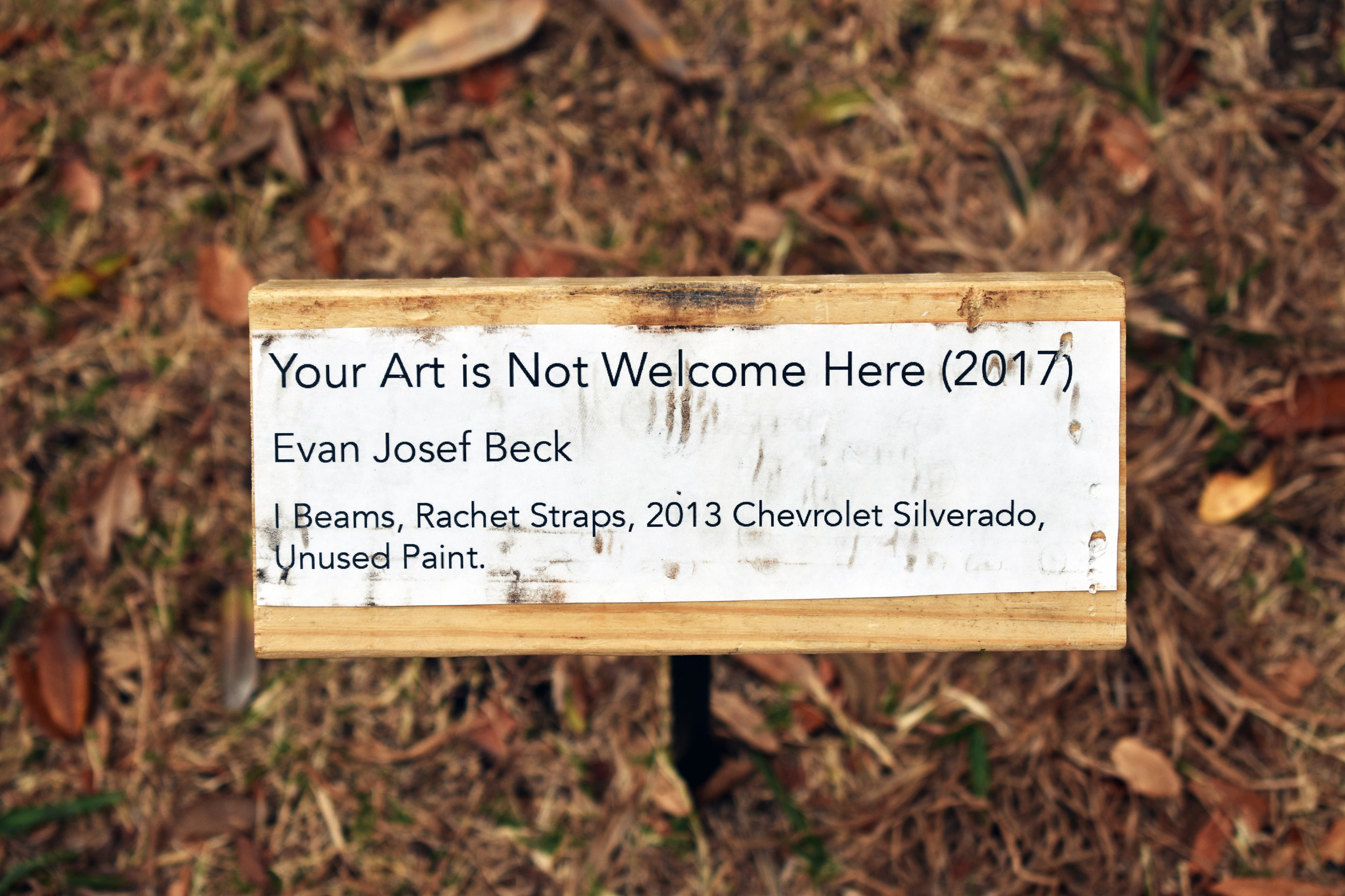 Your Art is Not Welcome Here