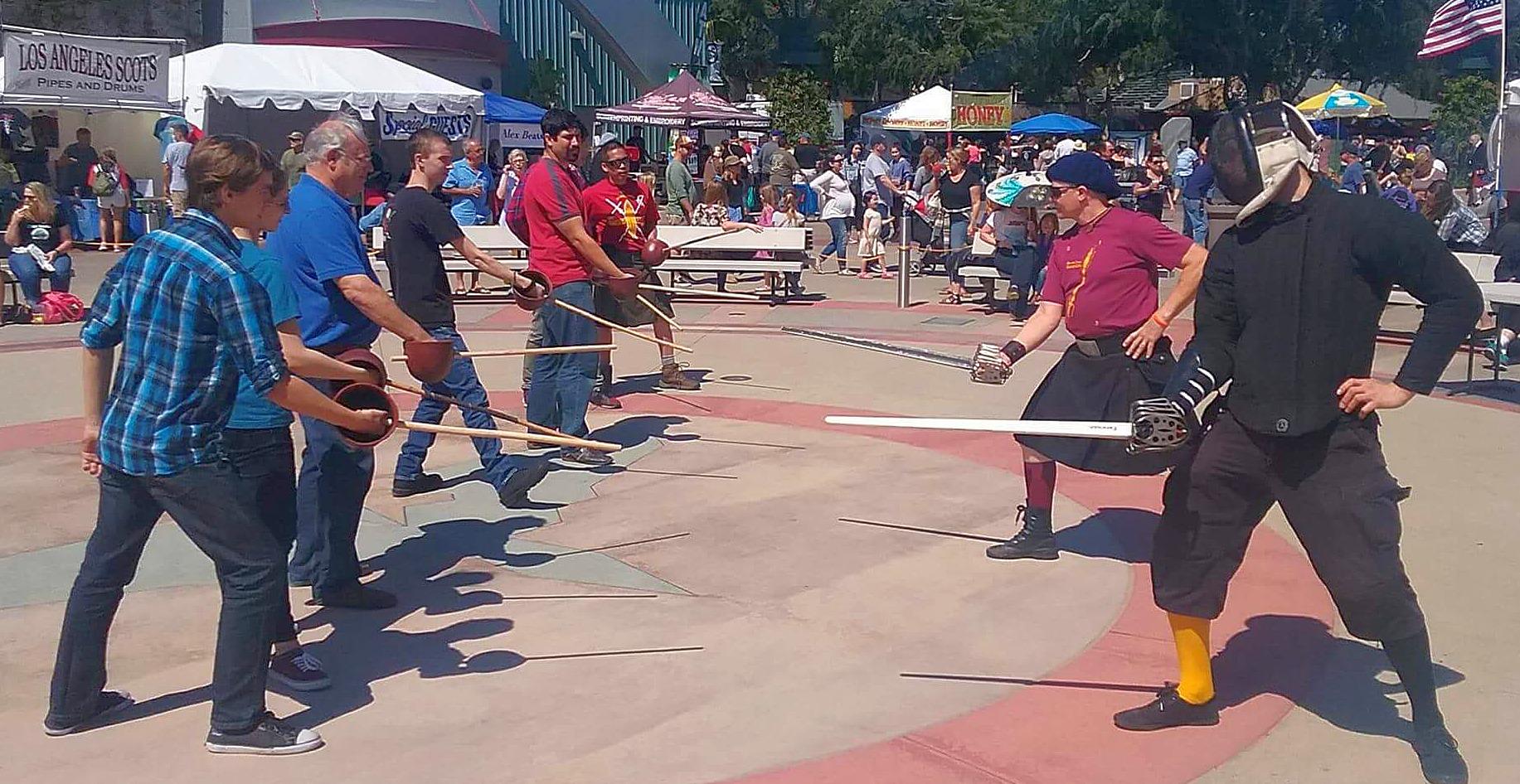 Regimental Broadsword Class at the Costa Mesa Scottish Fest