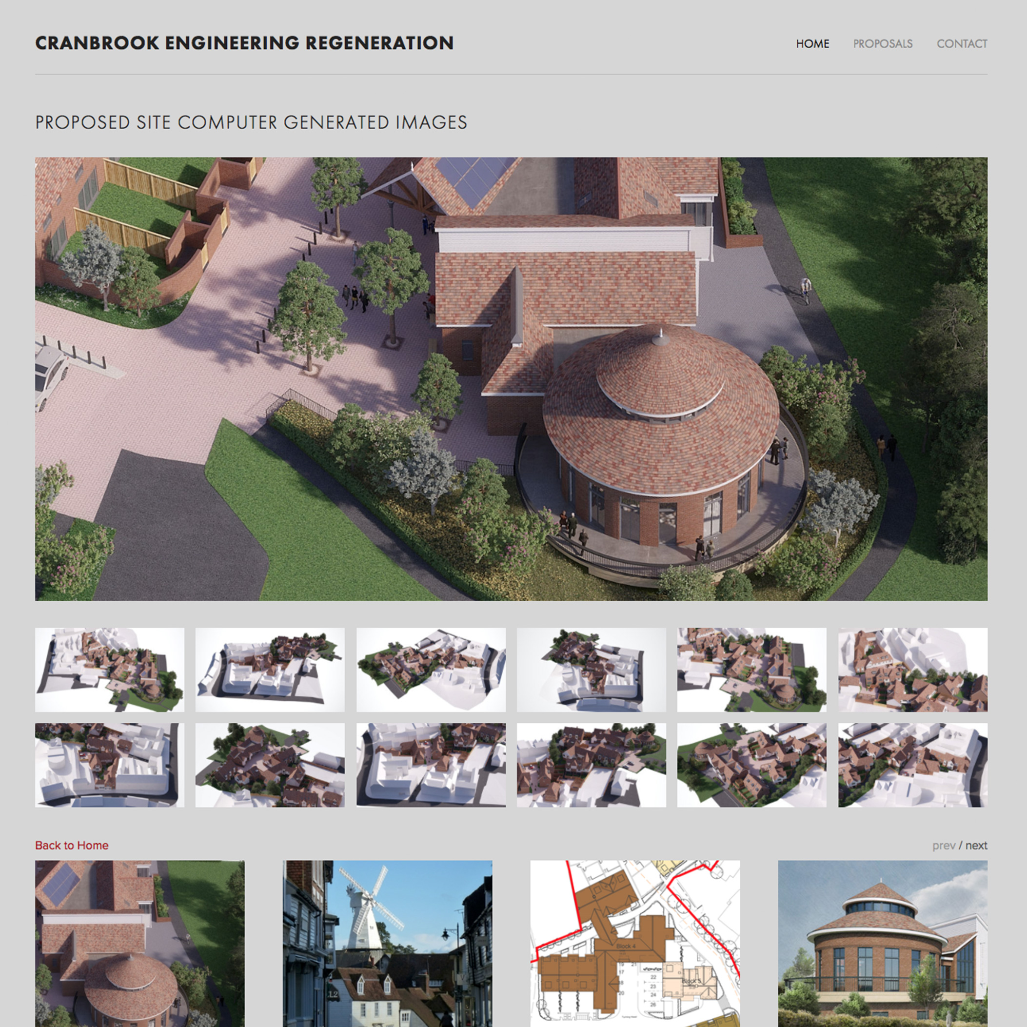 Cranbrook Engineering Works - comprehensive website presenting development and planning proposals for the local community