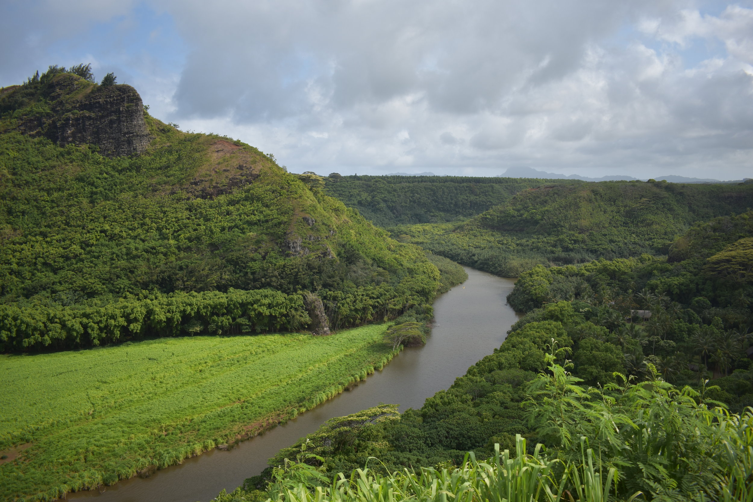 Wailua River flows in you