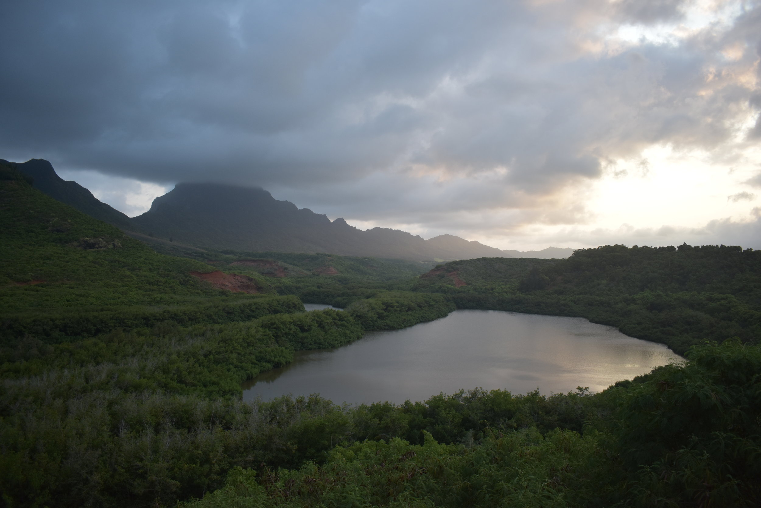 Sunset at Menehune Fishpond
