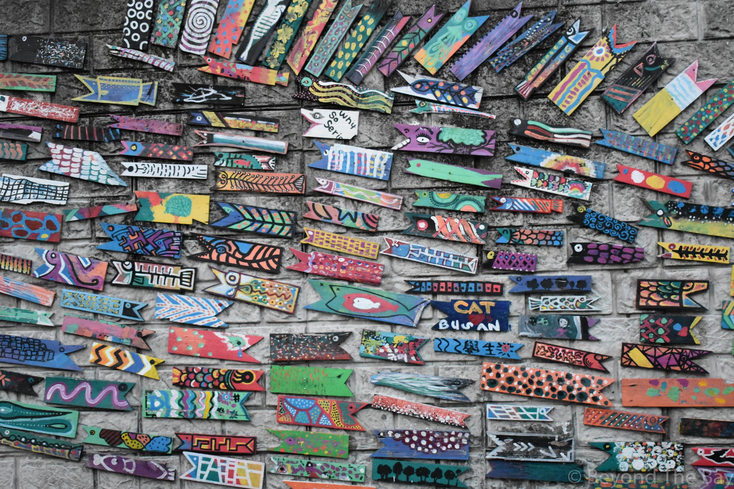 Artwork all around the Gamcheon cultural village