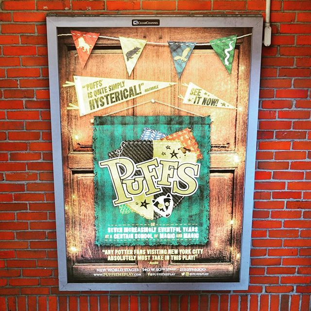 Hey hey hey - your favorite Off-Broadway play is now appearing 24/7 in your local #TimesSquare subway stop. #offbroadway