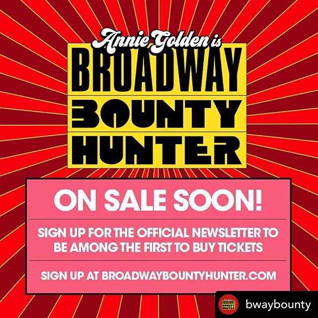 Ready, Aim, Tickets! Don't miss the inside scoop on this summer's hottest pursuit! • #repost @bwaybounty She's warmed up and ready to go. Are you? Be the first to get the Broadway Bounty Hunter scoop. 💥 Link in bio.