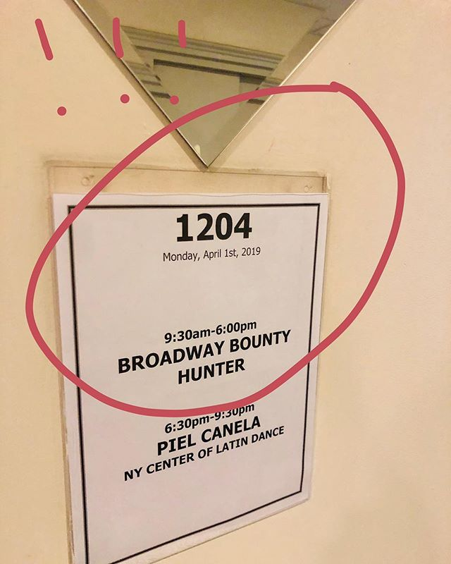 "RT @jenashtep: ""It's Broadway Bounty Hunter audition day!!!!!!!! 🎶 whatever the weather, we hunt together 🎶😍😍😍"" @bwaybounty"