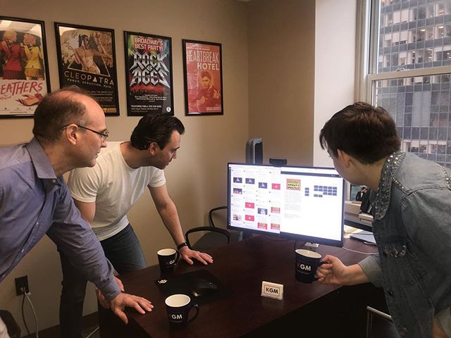 Monitoring ticket sales is a full office affair at KGM. The #BroadwayBountyHunter Fan Pre-Sale is live now, and general tickets are available May 8! . . . . #bwaybountyhunter #joeiconis #anniegolden #ImABountyHunter #nyc #theater #theatre #management #kgm #theatrical
