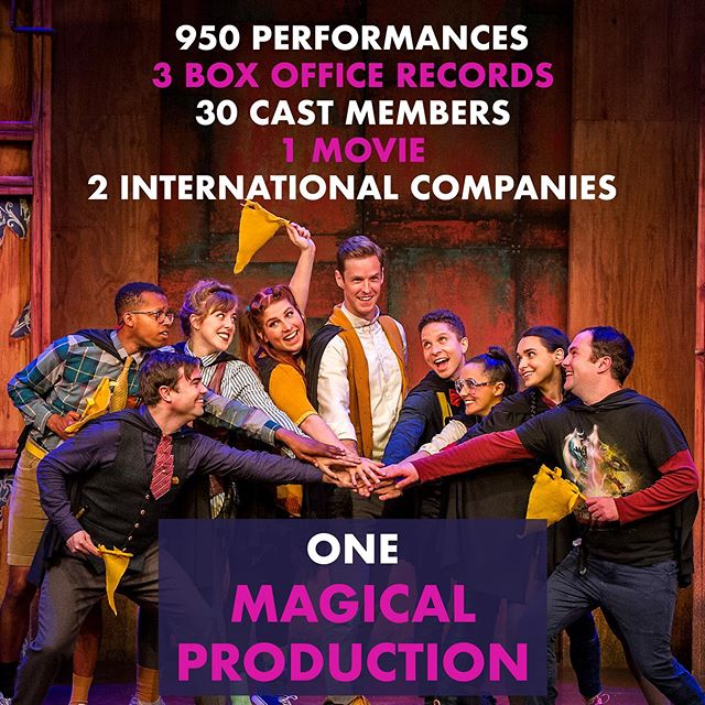 It's been magical working on @puffsplay - join us in wishing the Puffs a happy closing as they wrap up their record-breaking run this Sunday! ✨🦡 . . . . #puffs #thirdornothing #nyc #offbroadway #offbway #theater