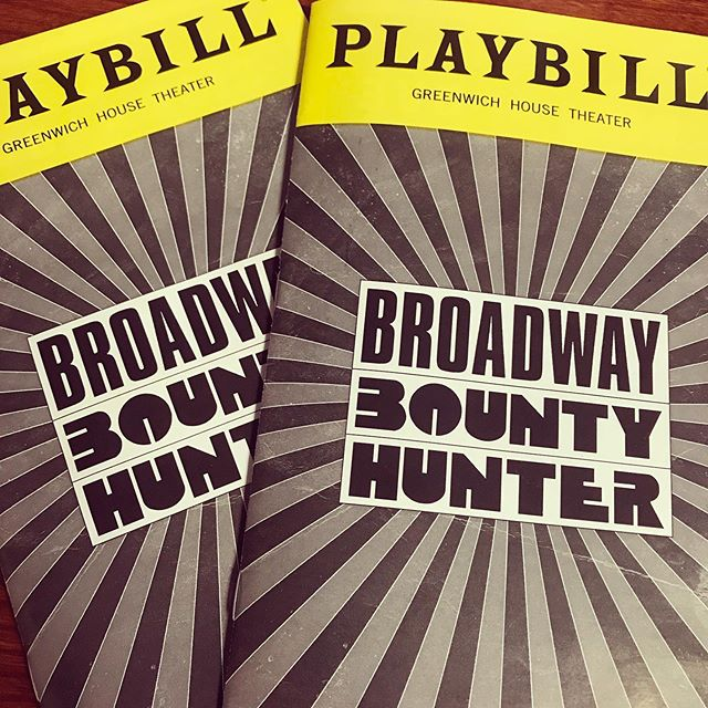 "Last night was ""ain't no thing"" as @bwaybounty opened their first preview at the Greenwich House Theater. Come join the pursuit with us downtown this summer! 💥. . . . #bwaybountyhunter #broadwaybountyhunter #Imabountyhunter #nyc #offbroadway #theater"