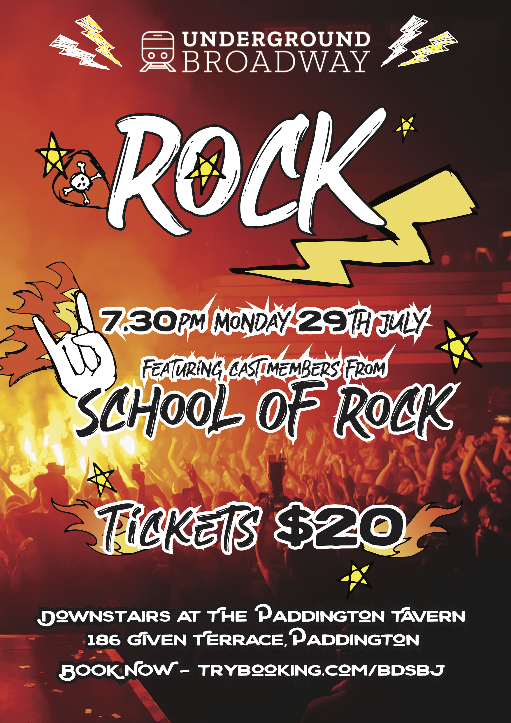 - WHO WANTS TO ROCK?!We are back on July 29th with a collection of Rock hits from your favourite musicals featuring cast members from School Of Rock.