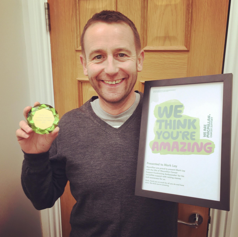 Mark with Macmillan Award