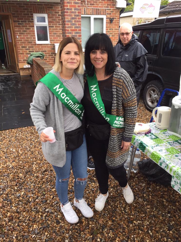 Josephine & Tricia volunteering at bake sale