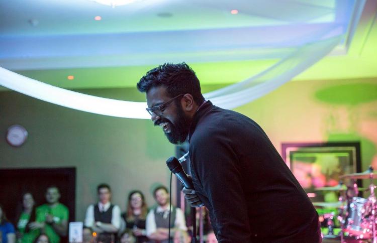 Romesh Ranganathan volunteering his services at a Team Lay event