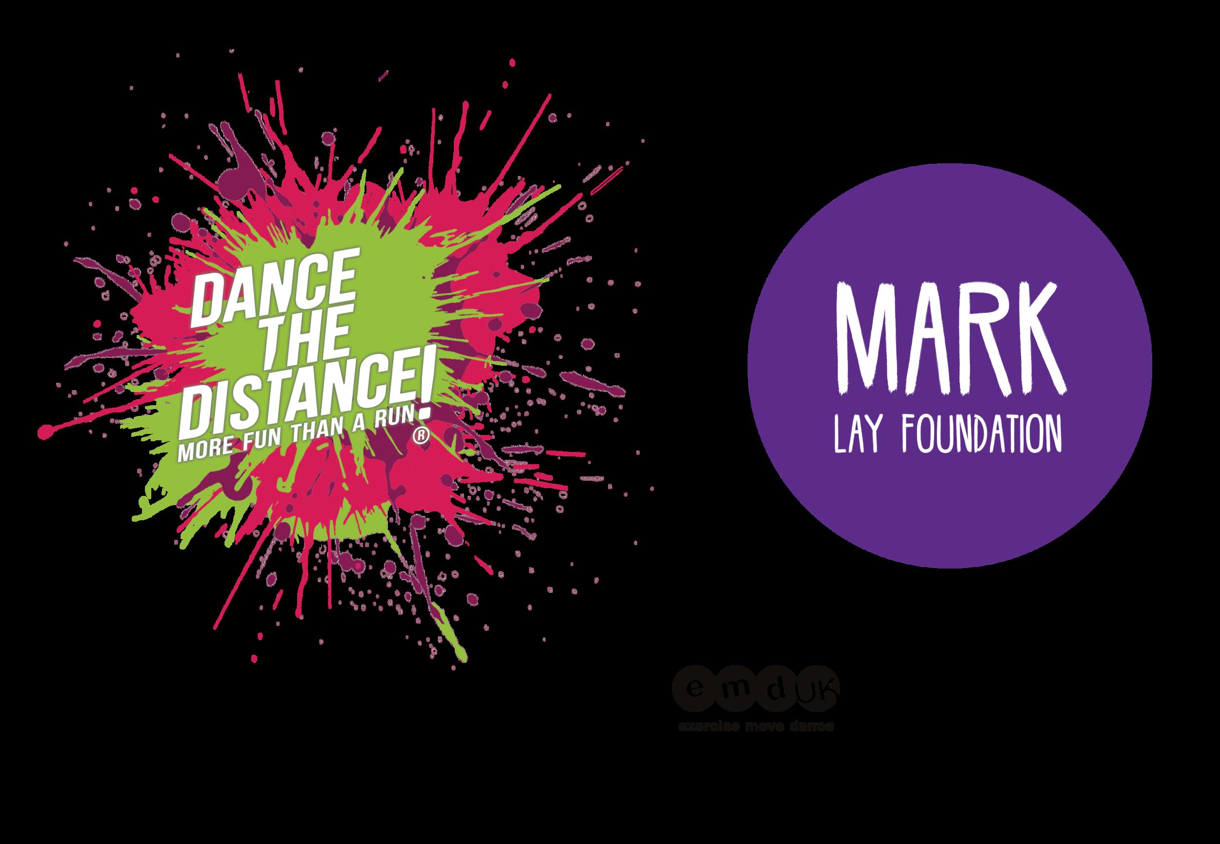 dance the distance logo for mark lay v3 transparent black.png