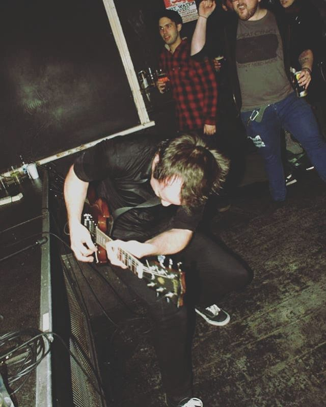 Rocking the OBL in 2013(?). We played quite a few decent shows there and even shot our first video there (thanks Mel!) Come see us one last time this Thursday at @diyspaceforlondon  #punk #punkrock #oldbluelast #diyspaceforlondon #sg #gibsonsg #guitar #punkband #gibsonguitar #gibsonguitars