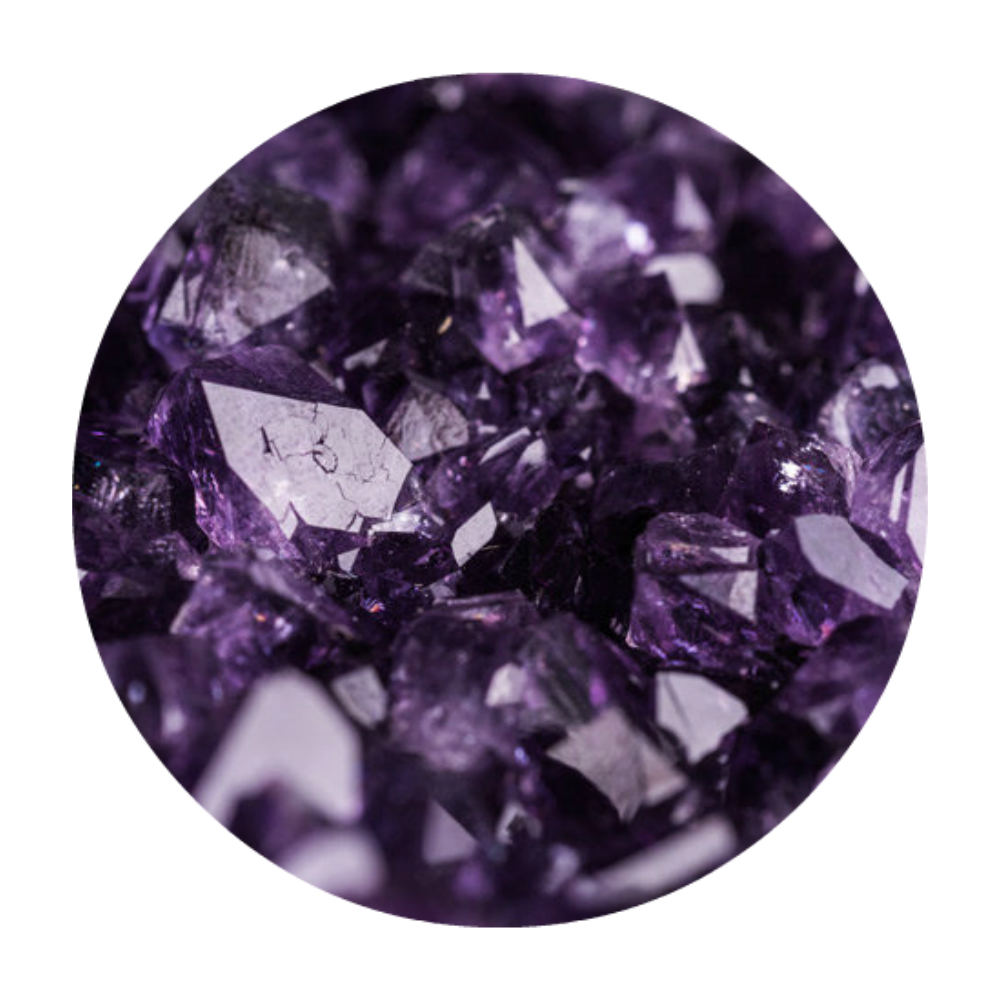 AMETHYST - gets rid of negativity & is known to help shun addictions