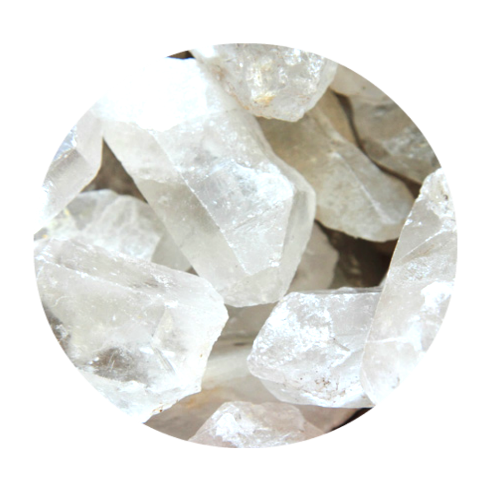 CLEAR QUARTZ - is known for healing & amplifying the strength of other crystals.