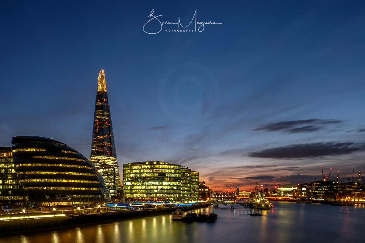 """LON0010 """"View from the Bridge - Blue Hour"""""""