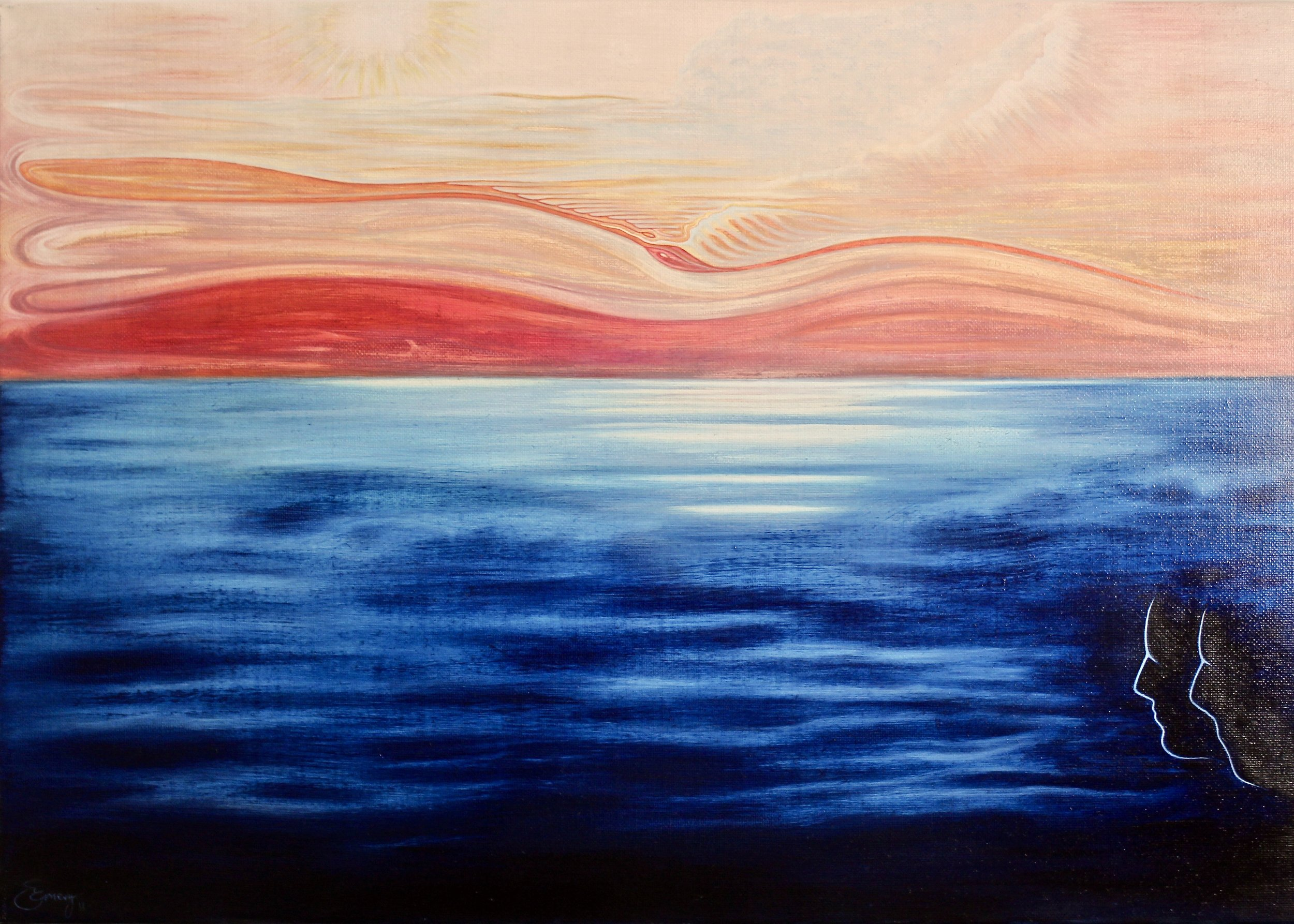 Lovers Rib -  2011 oil on canvas 70cm x 100cm