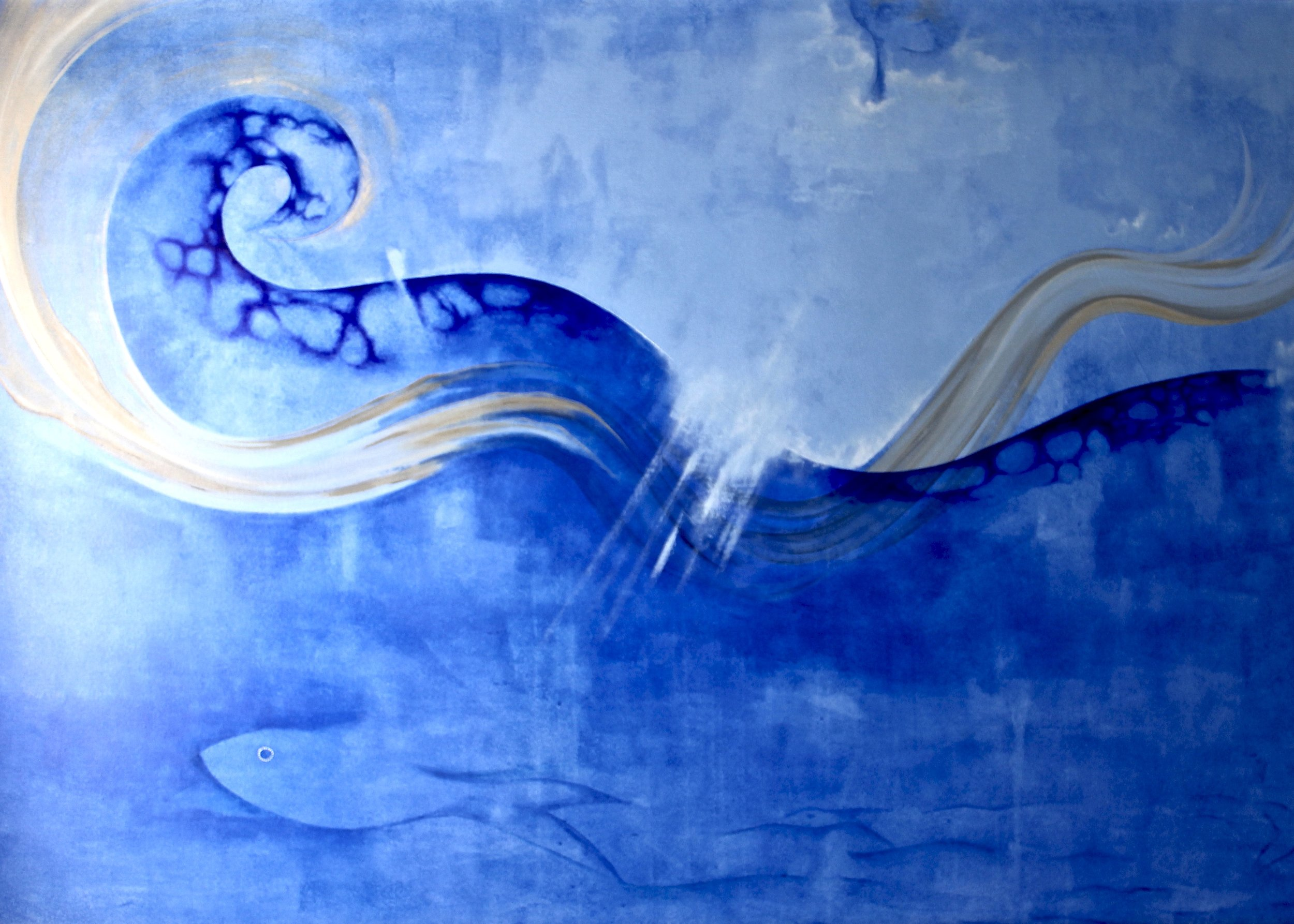Light Will Swell -  1994 acrylic on canvas 97cm x 153cm