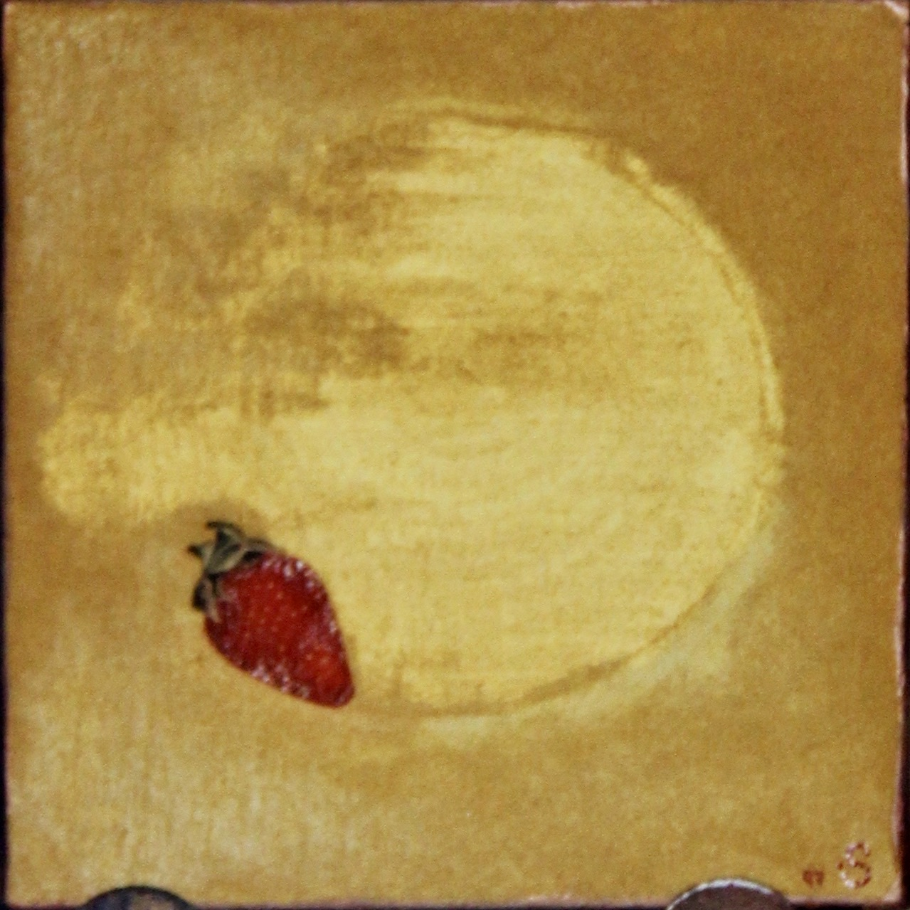 Fresa -  1997 oil on canvas. 30cm x 30cm (sold)