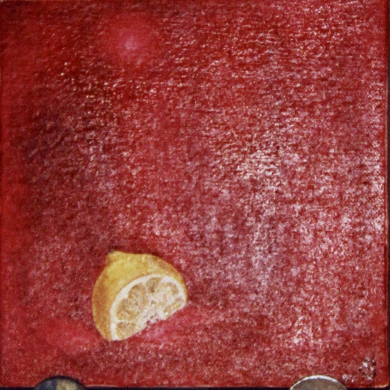 Gajo de Limon -  1997 oil on canvas 30cm x 30cm (sold)