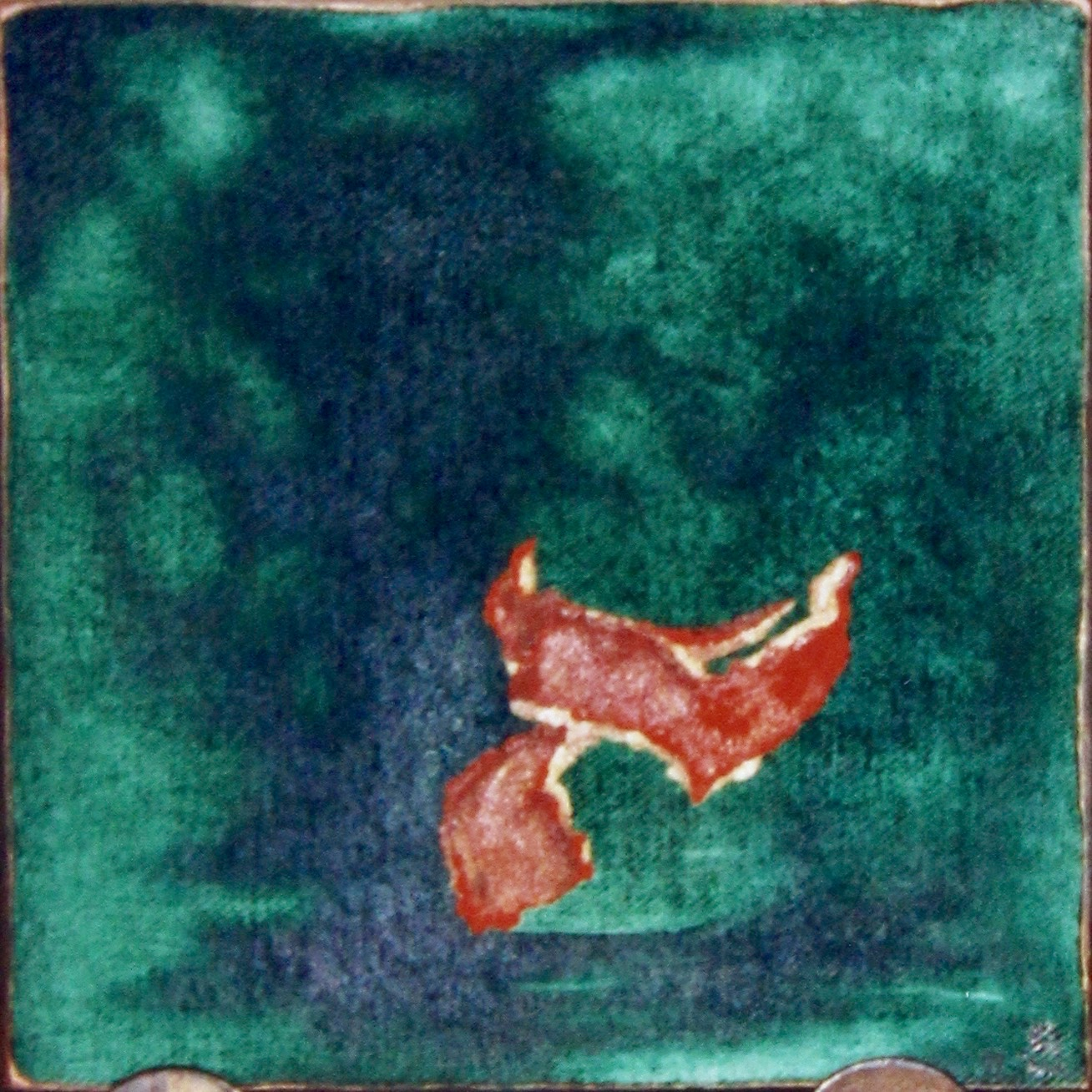 Mandalin Rind-  1997 oil on canvas 30cm x 30cm (sold)