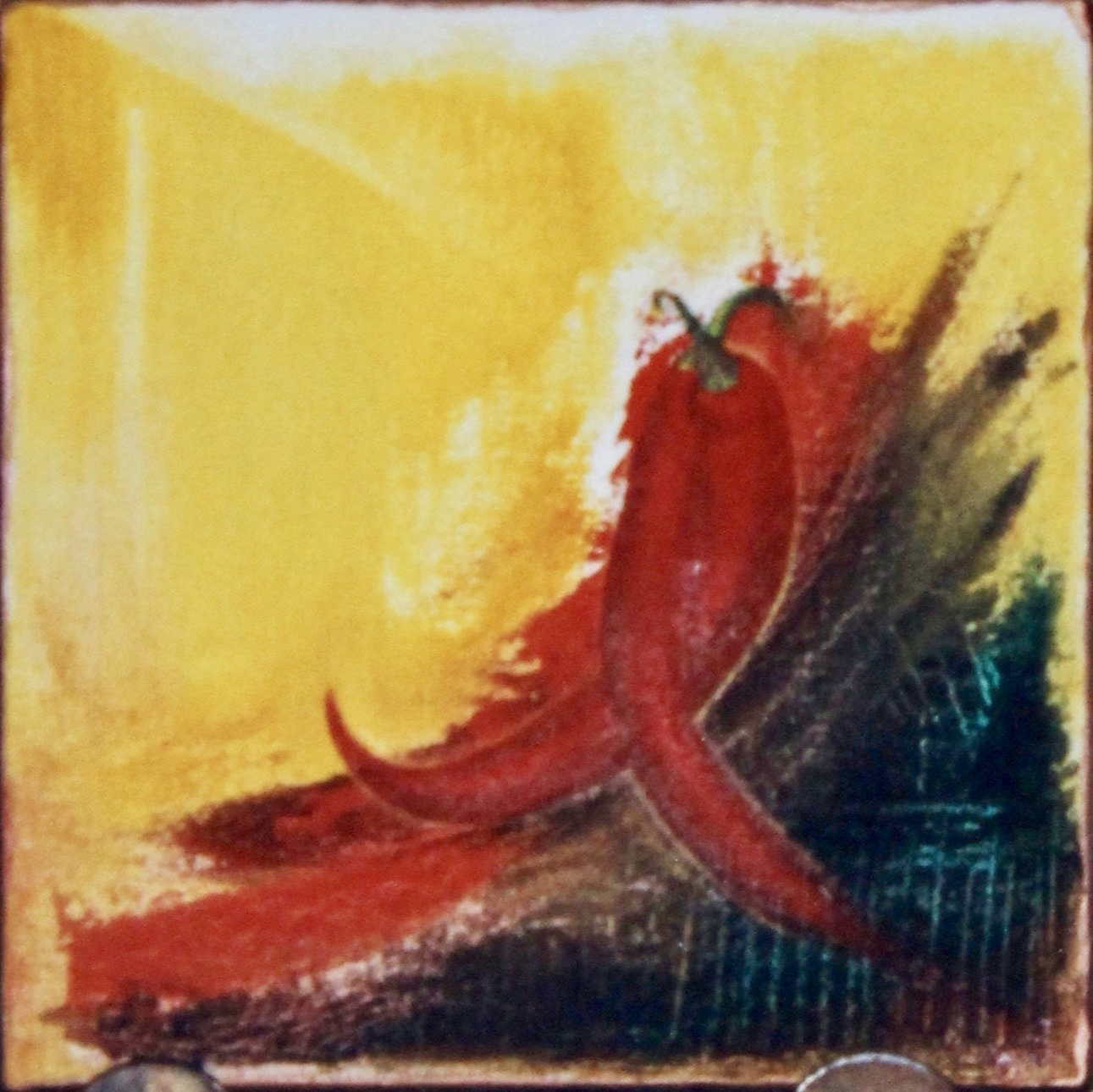 Peppered Passion -  1997 oil on canvas 30cm x 30cm (sold)