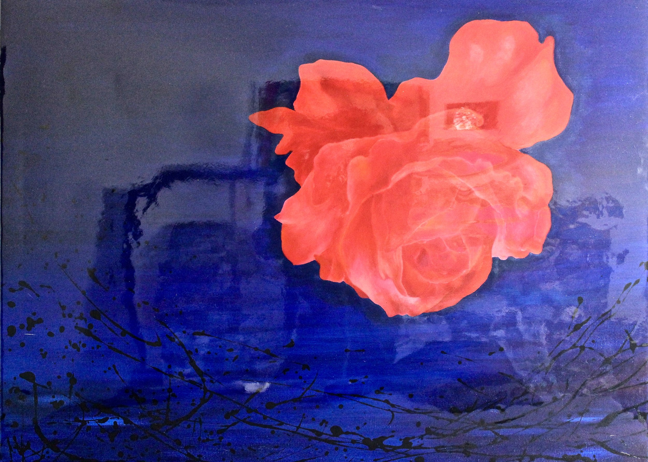 The Blooming -  2018 oil on canvas sealed with resin 76cm x 102cm
