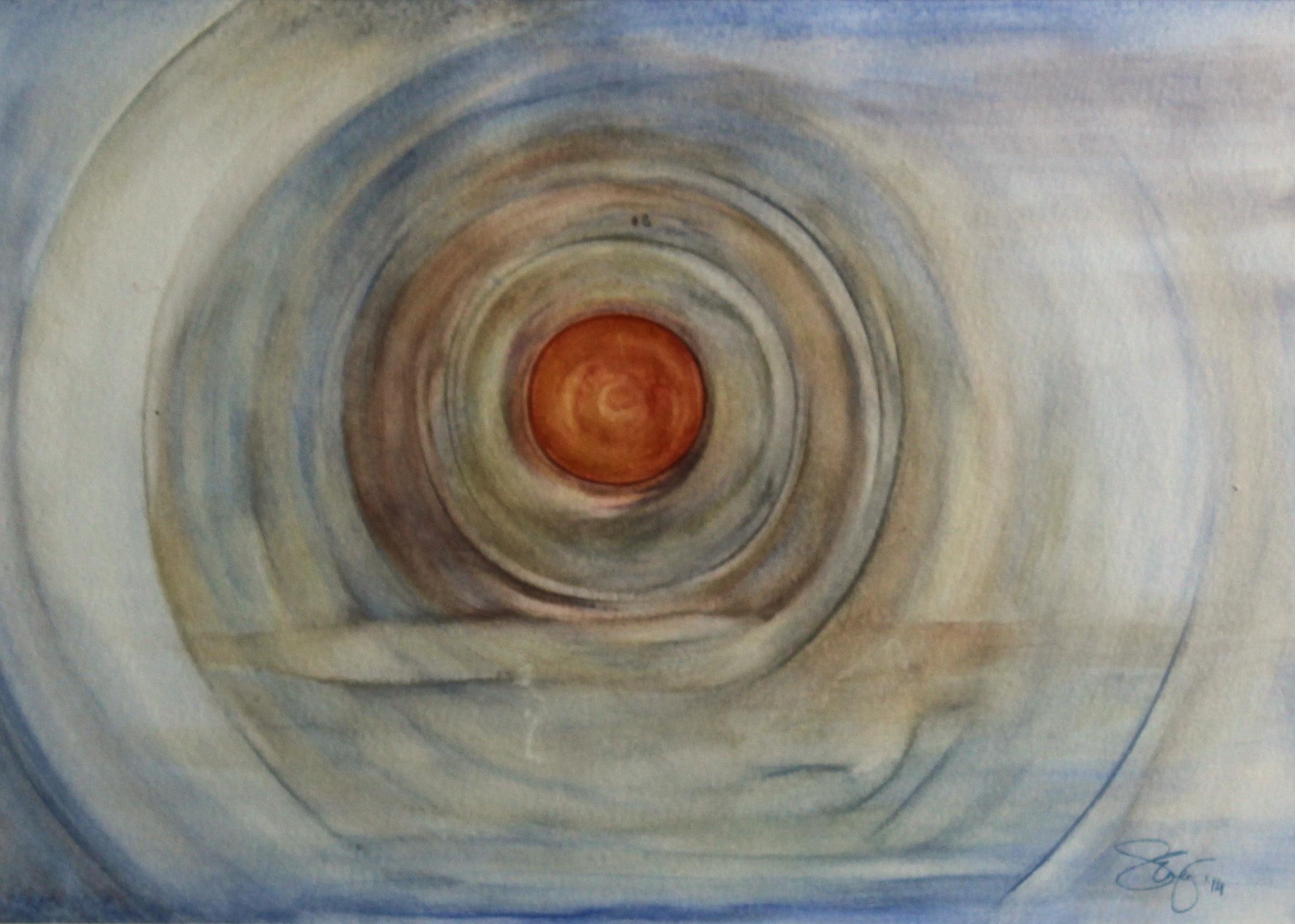 Echo You're Feeling -  2014 watercolour on paper 38cm x 48cm