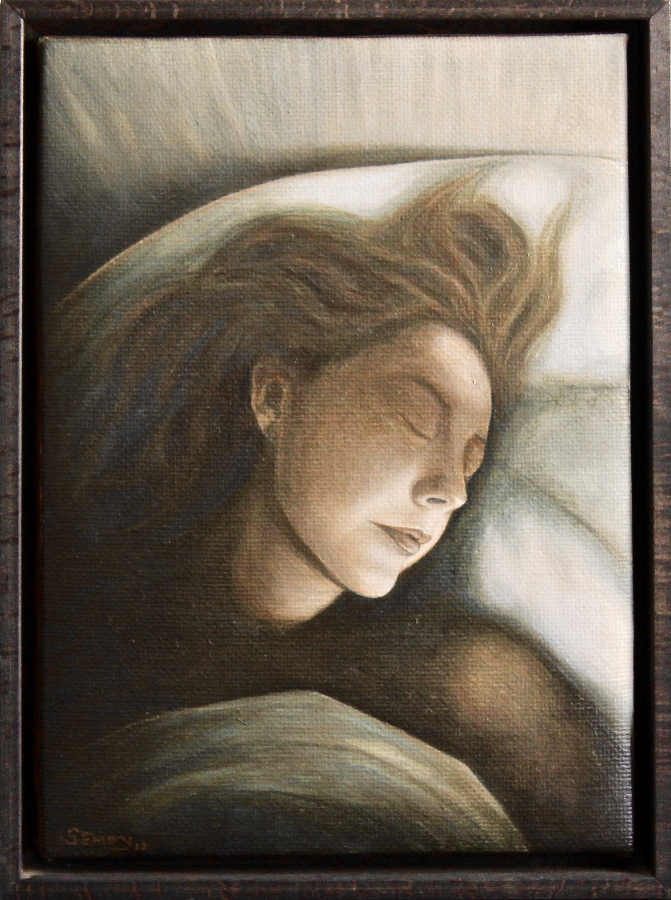 Dappled Dawn -  2013 acrylic on canvas 29cm x 39cm