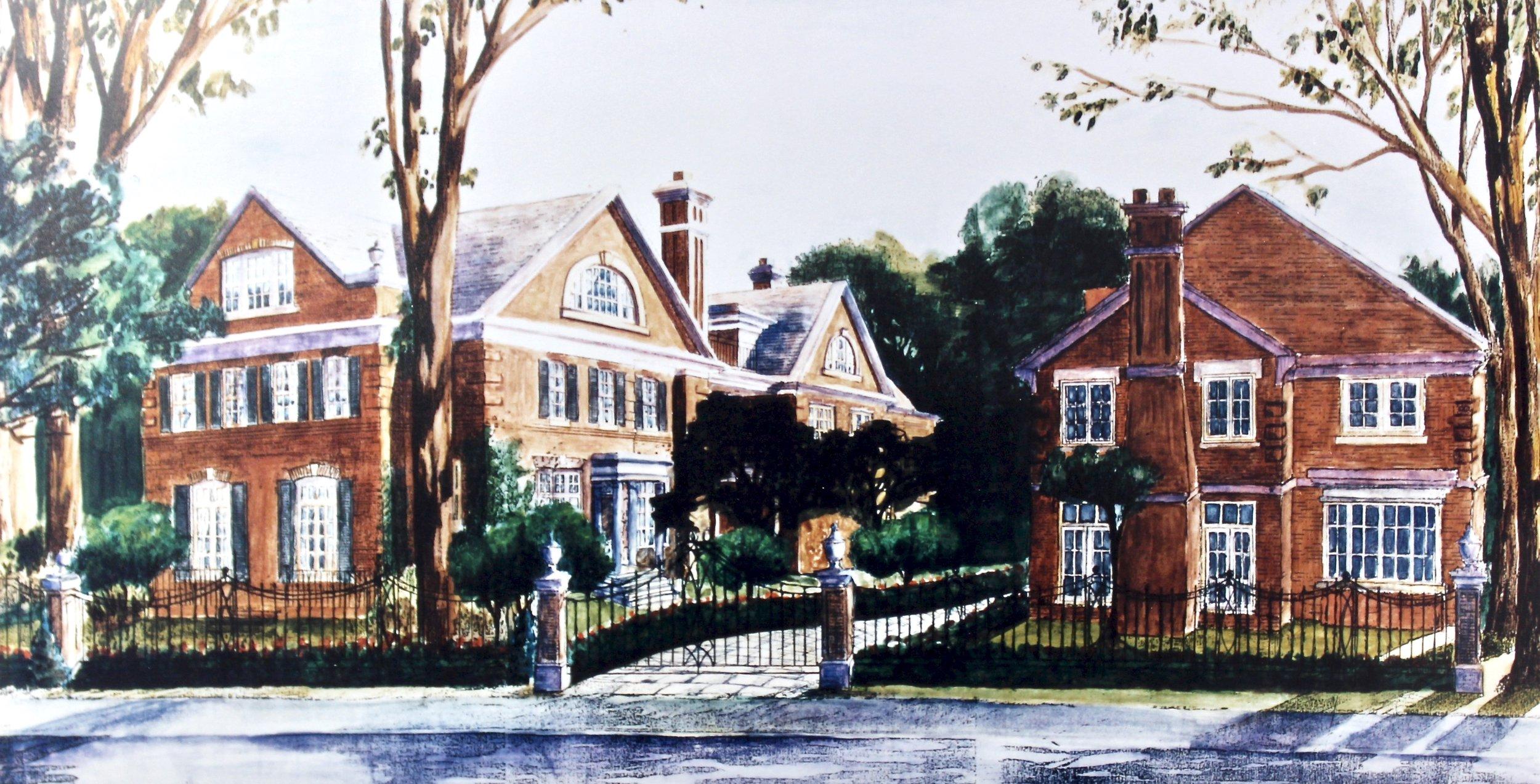 Rosedale -  1999 watercolour on paper 30cm x 70cm (sold)