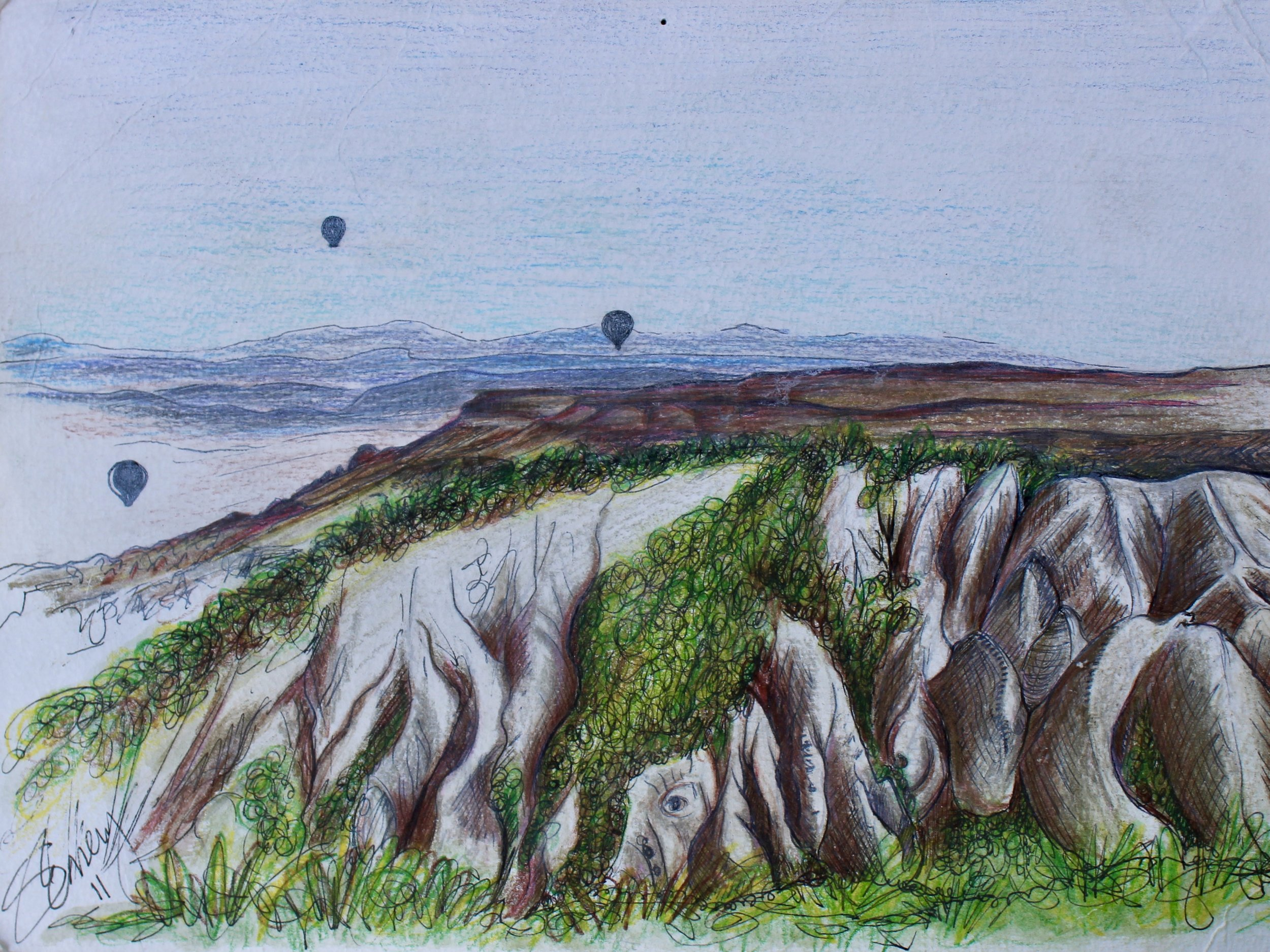Cappadocia -  2012 pencil on paper 20cm x 26cm