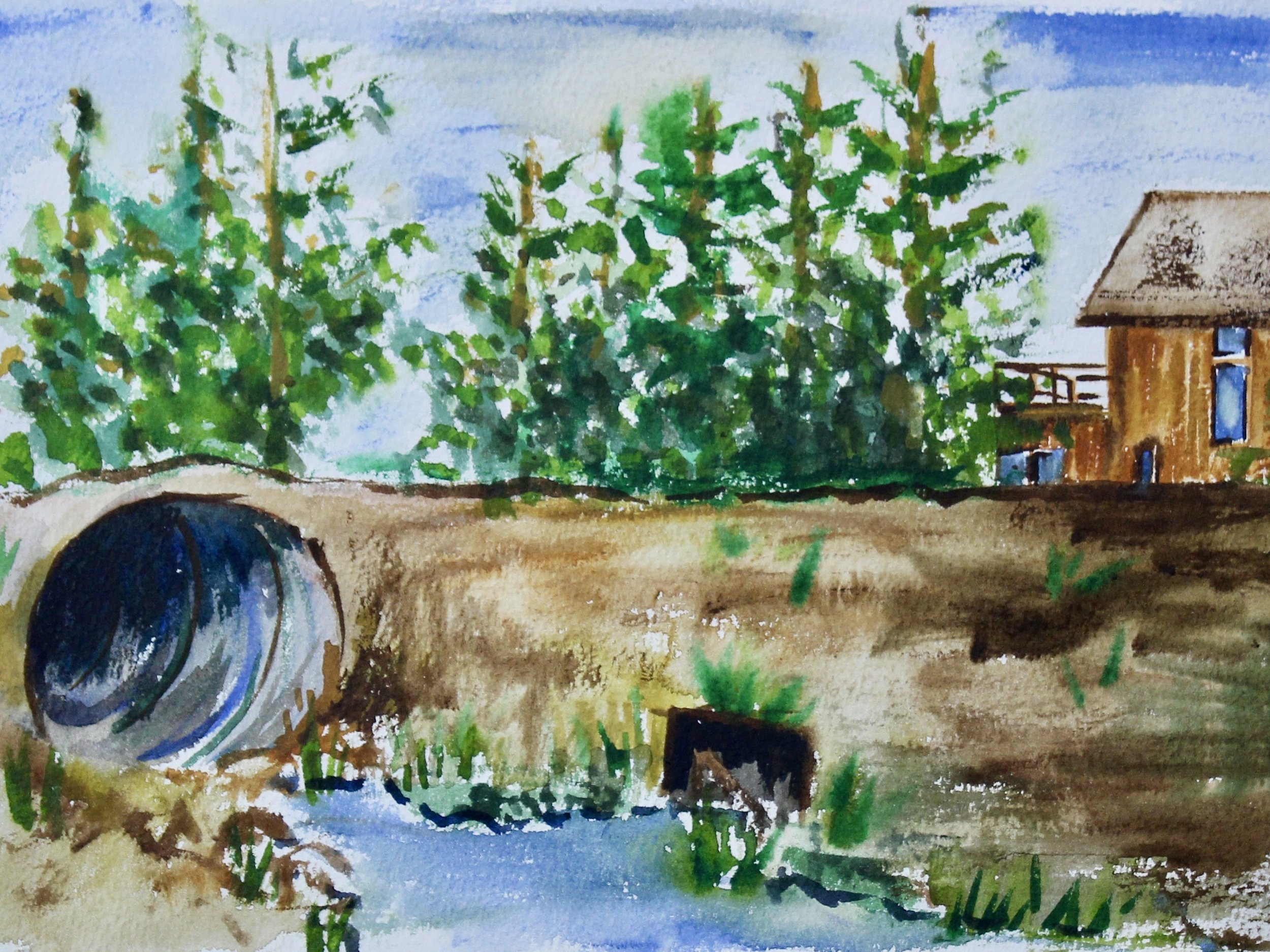 Mansfield 7 -  1999 watercolour on paper 20cm x 26cm