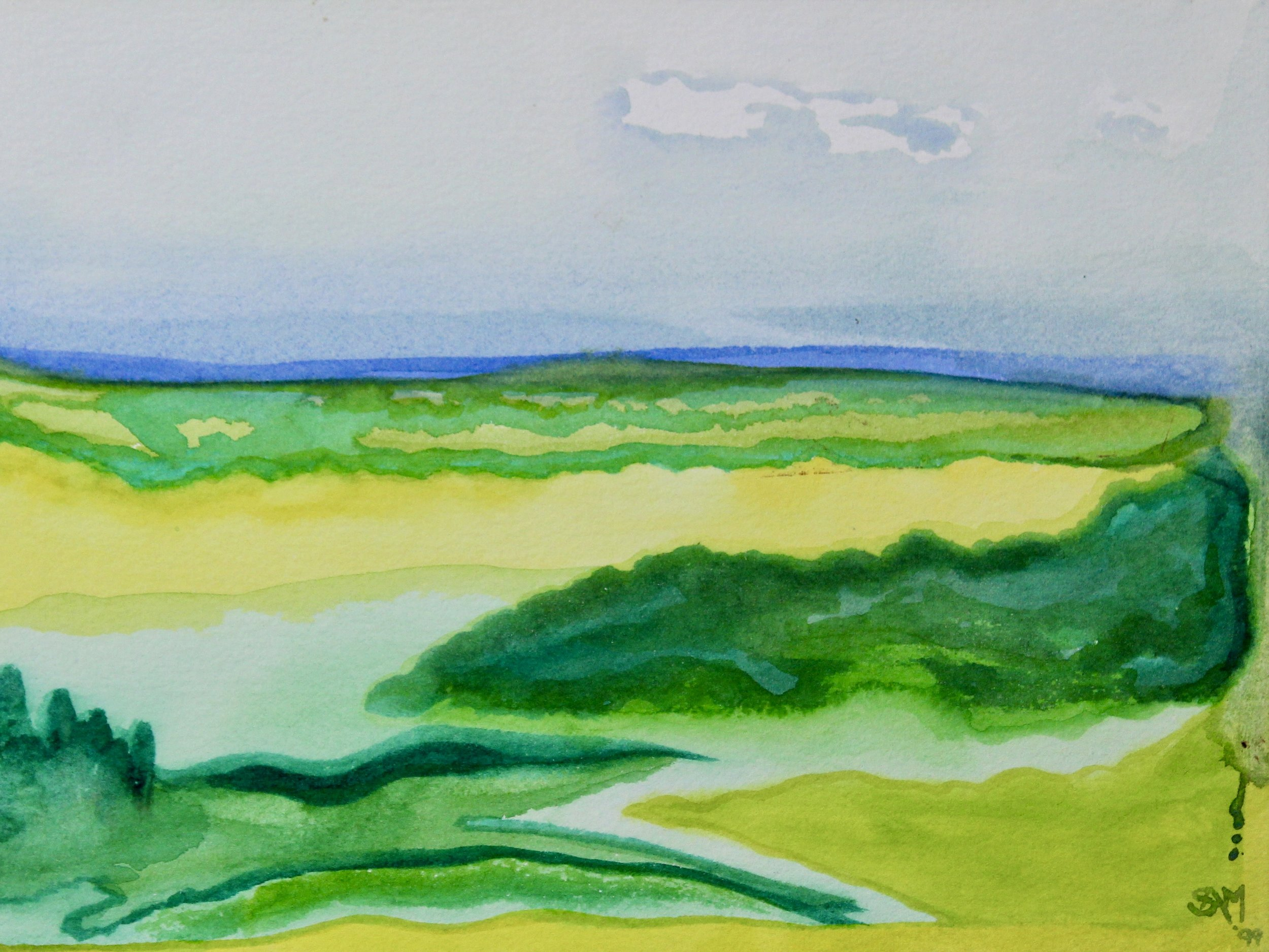 Mansfield 6 -  1999 watercolour on paper 20cm x 26cm