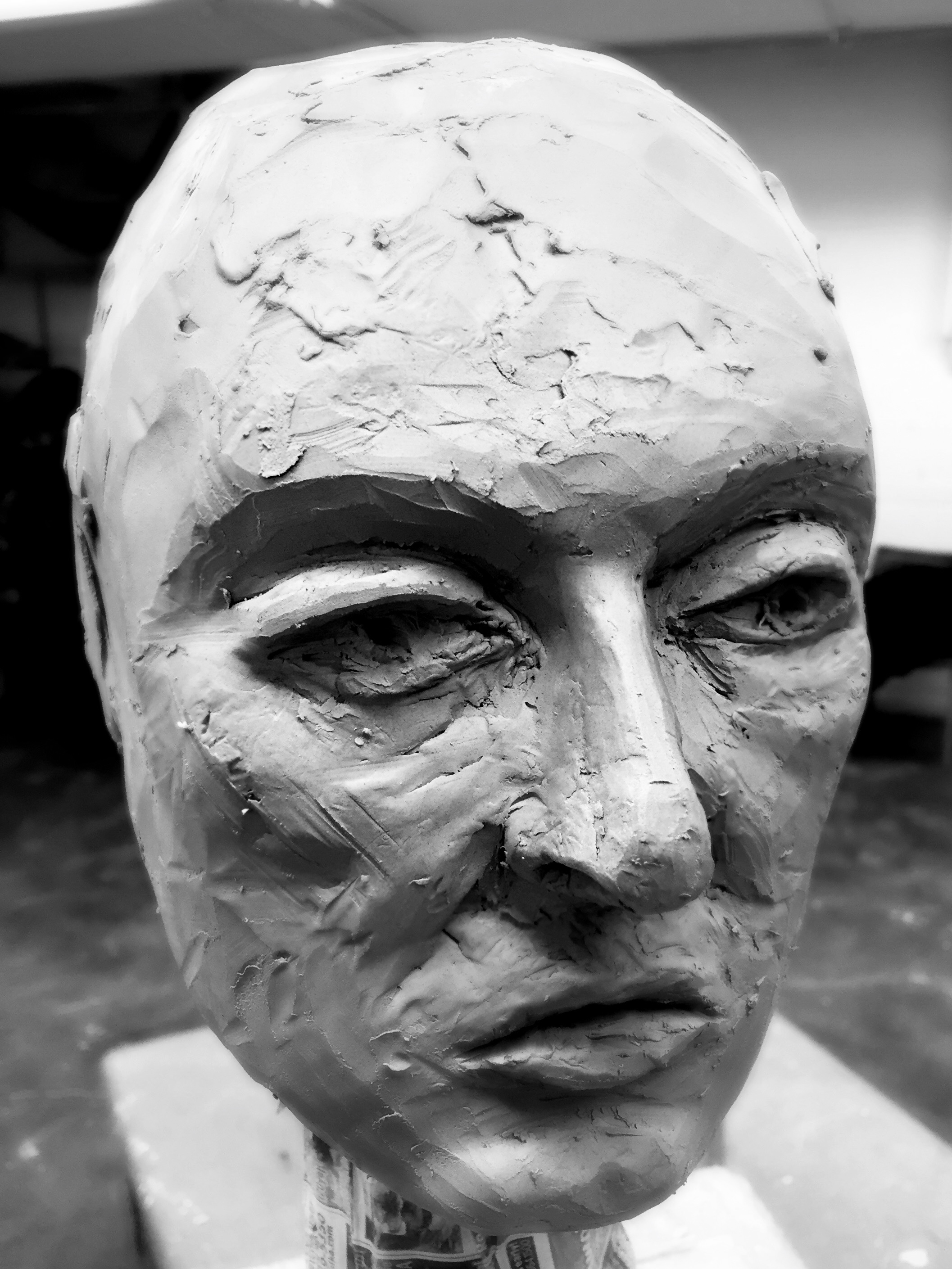 Her Stare -  2017 clay bust