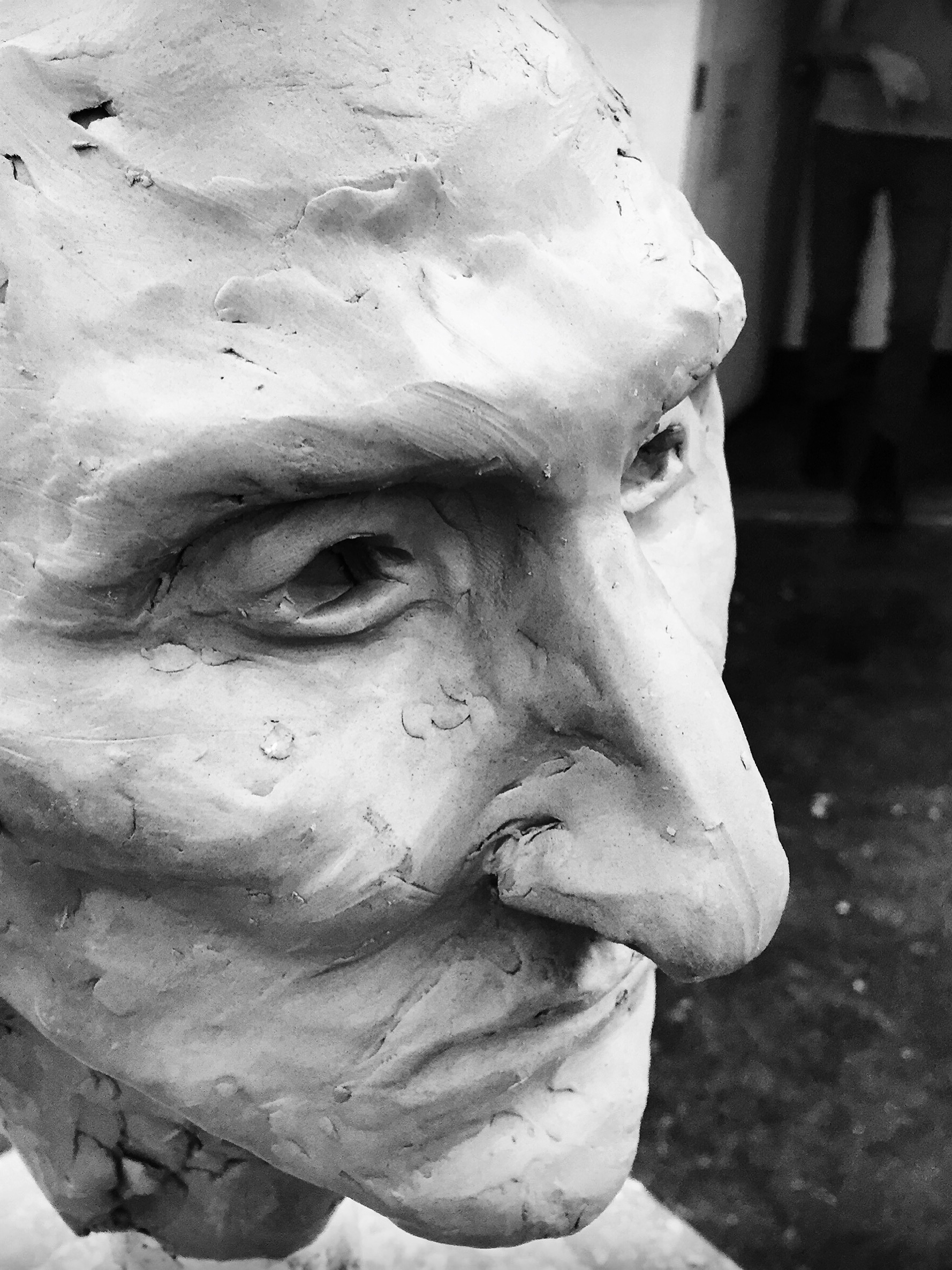 His Focus -  2017 clay bust