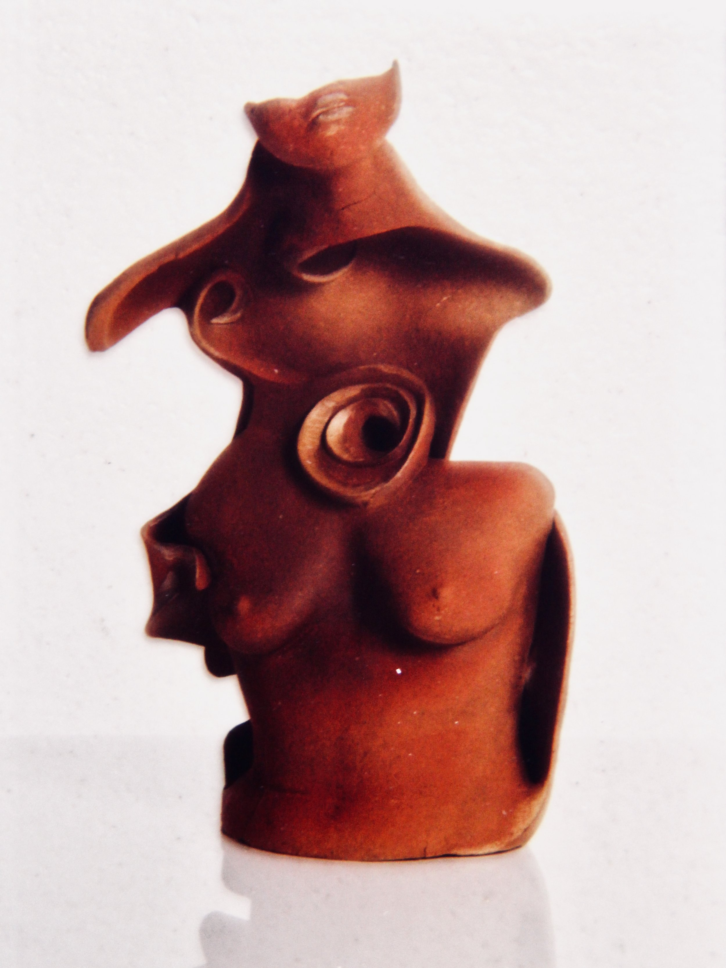 Just Listen to Me - 1992  hand coiled ceramic sculpture (sold)