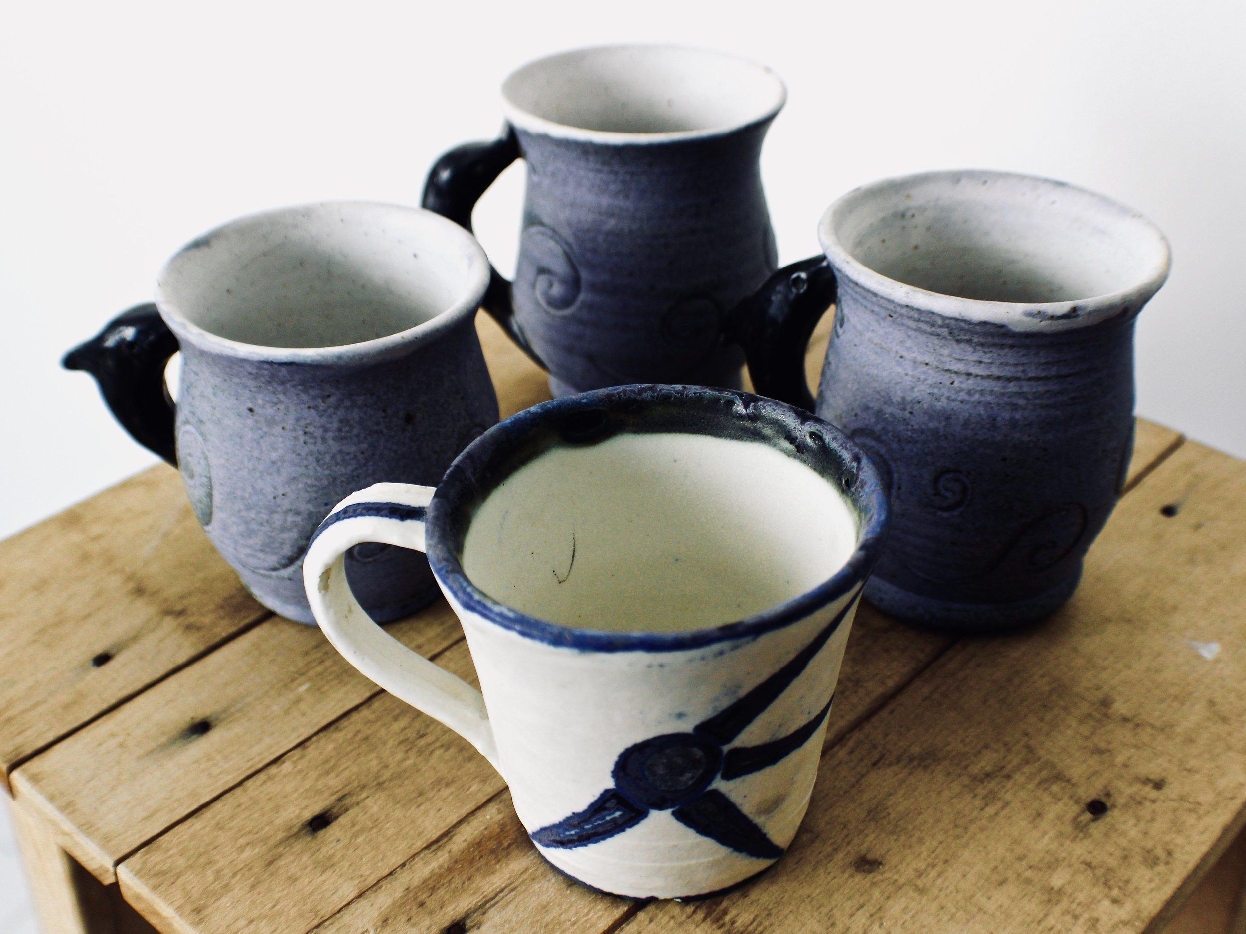 Porposeful Tea Cups-  1991 thrown ceramic
