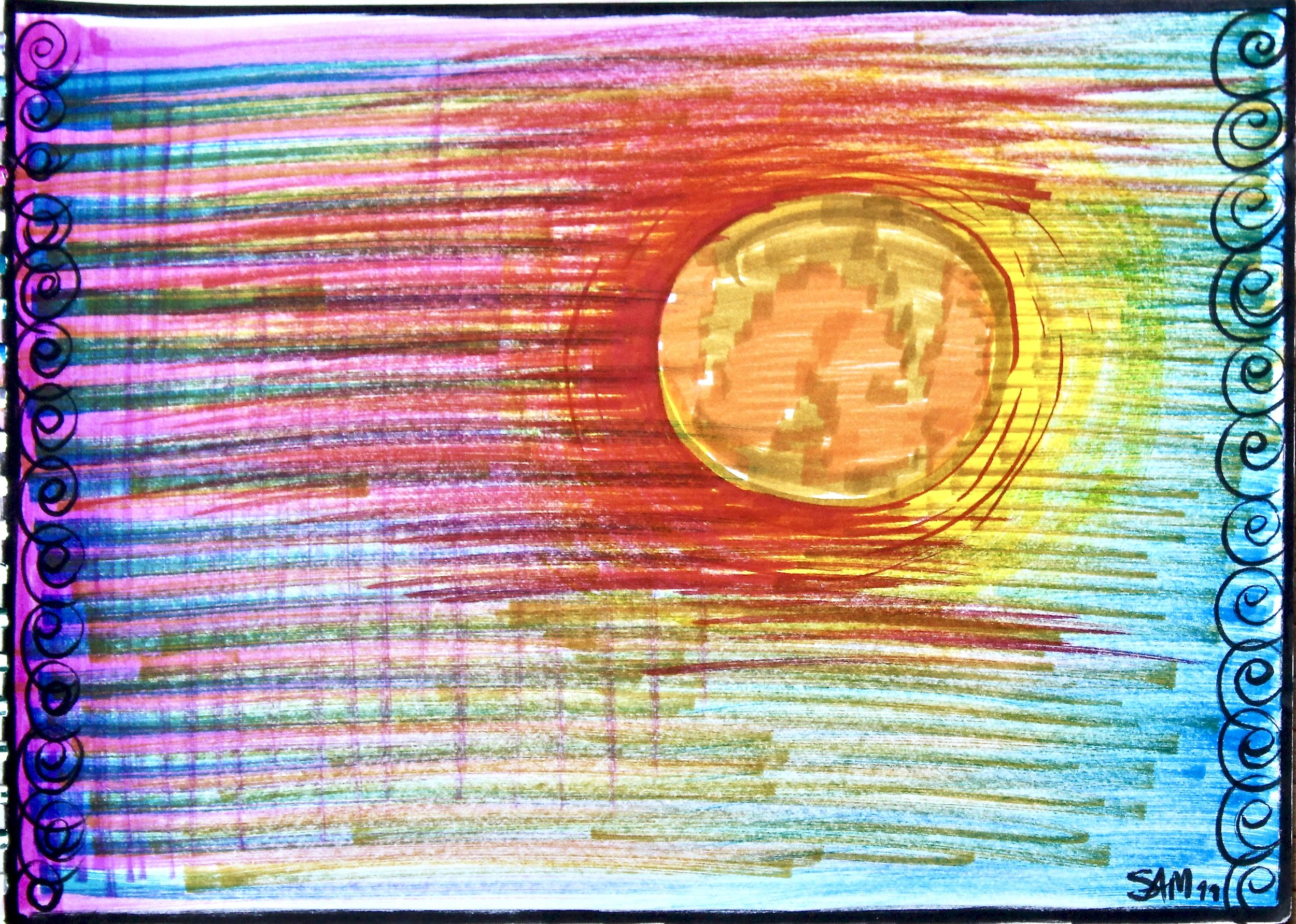 My Flag-  1988 coloured marker on paper 20cm x 26cm